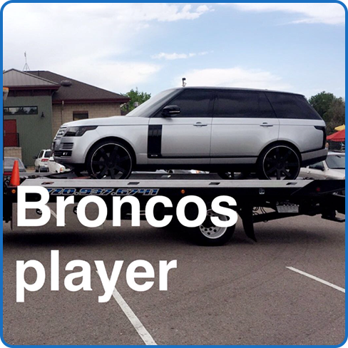 Towing Bronco Player's SUV